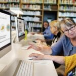 Seniors taking free online courses