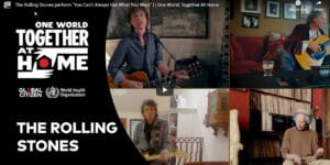 Rolling Stones perform at One World event