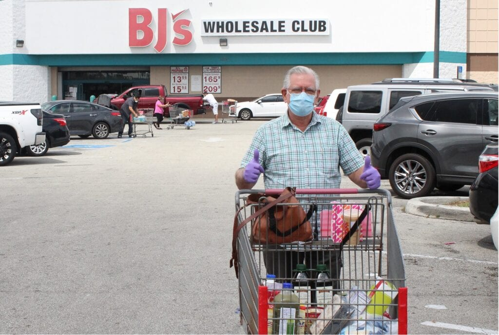 Shopping at BJ's Wholesale Club during the pandemic (Shutterstock photo)