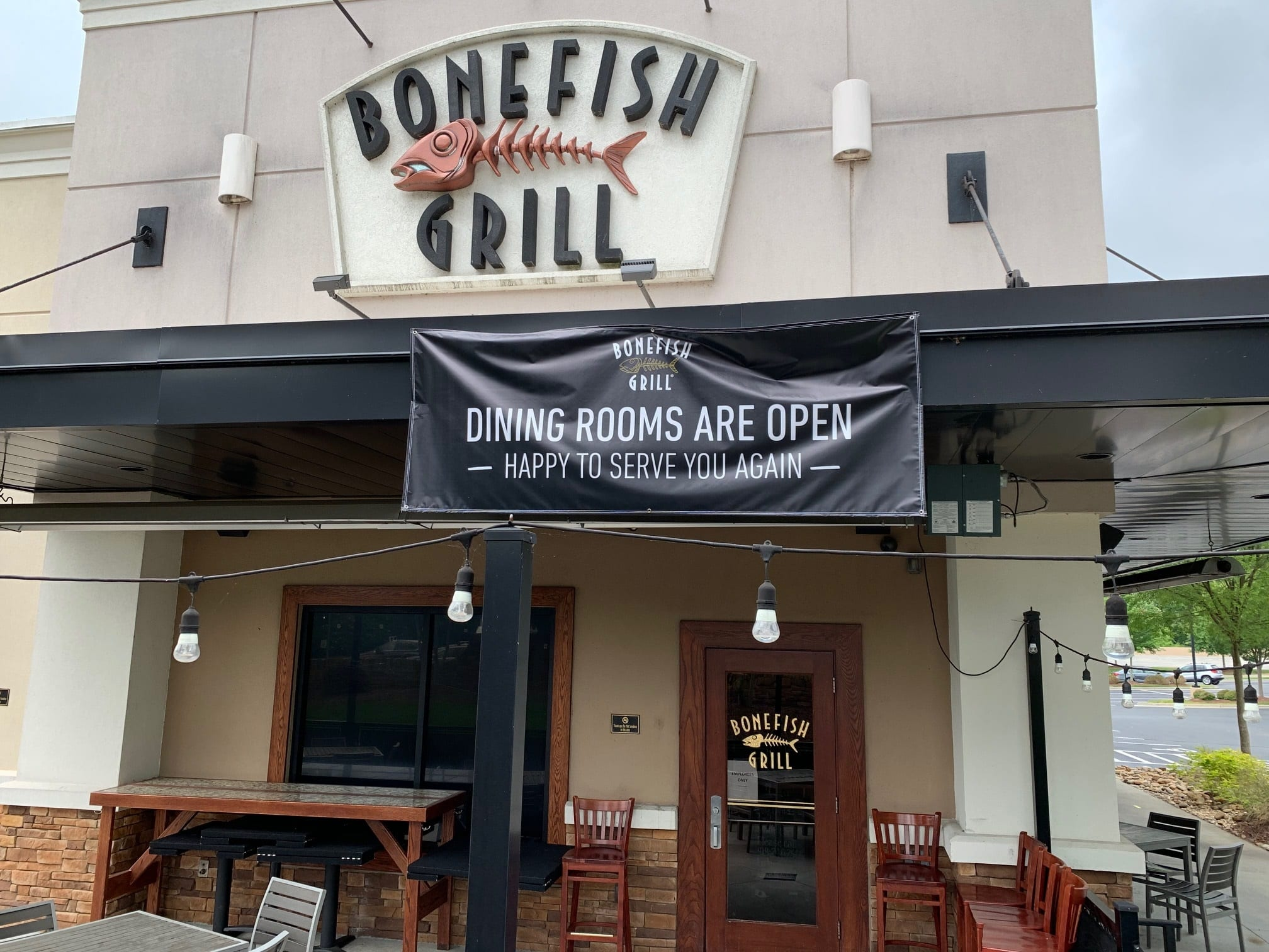 Bonefish grill open for dine-in at select locations