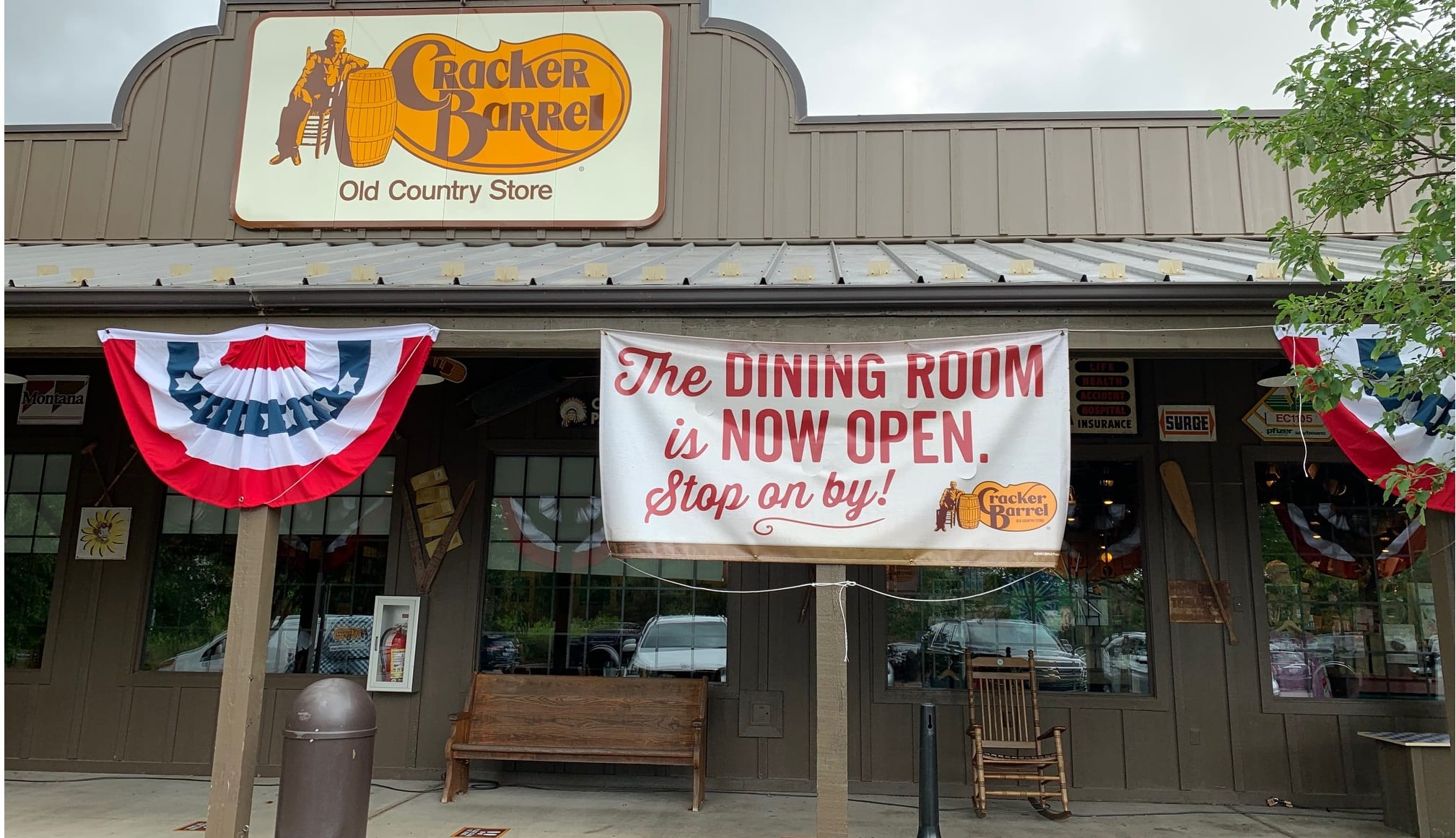 Cracker Barrel opens many locations for dine-in service