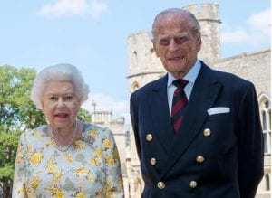 Queen Elizabeth and Prince Philip at Windsor Castle