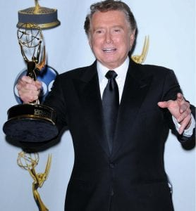 Regis Philbin receives a Daytime Emmy in 2003 (Shutterstock Photo)