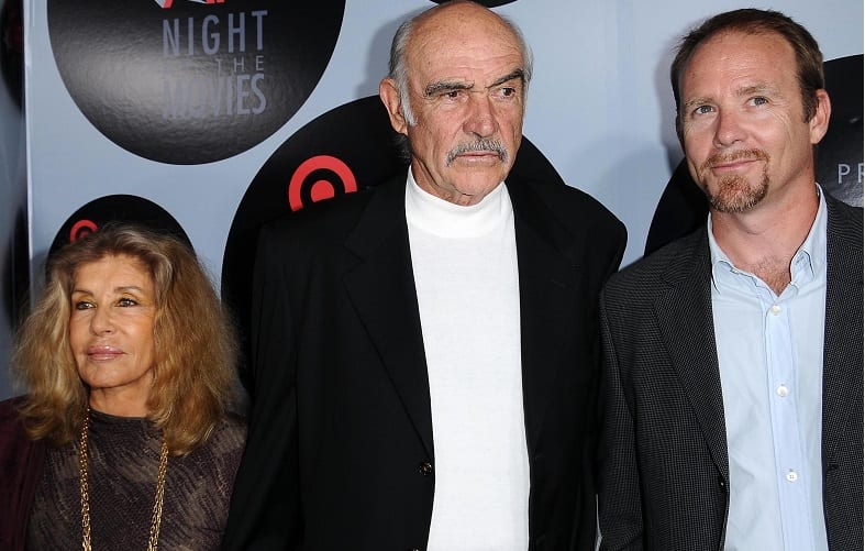 Micheline Roquebrune, Sean Connery and Jason Connery