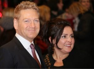 Kenneth Branagh and wife