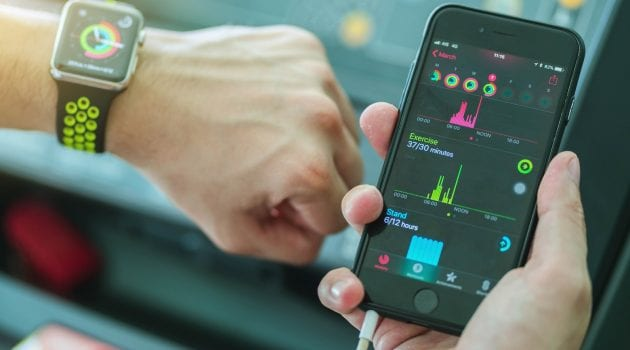 Health monitoring with Apple Watch
